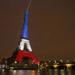 The Eiffel Tower's colors will be at the mercy of social media users during Euro 2016